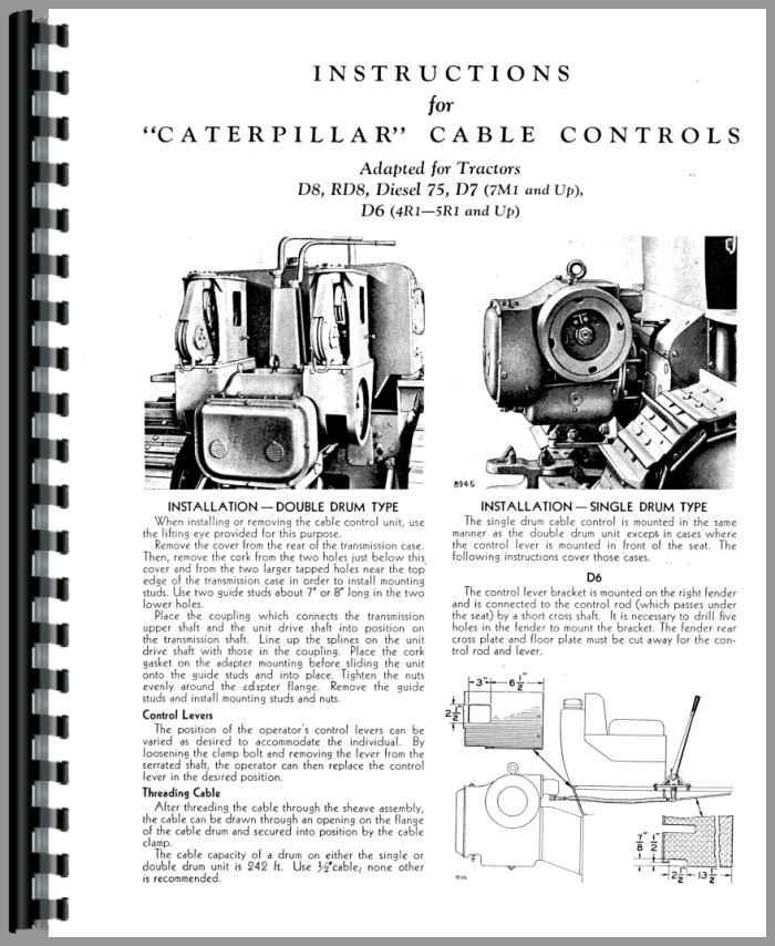 Caterpillar D7 Crawler Operators Manual