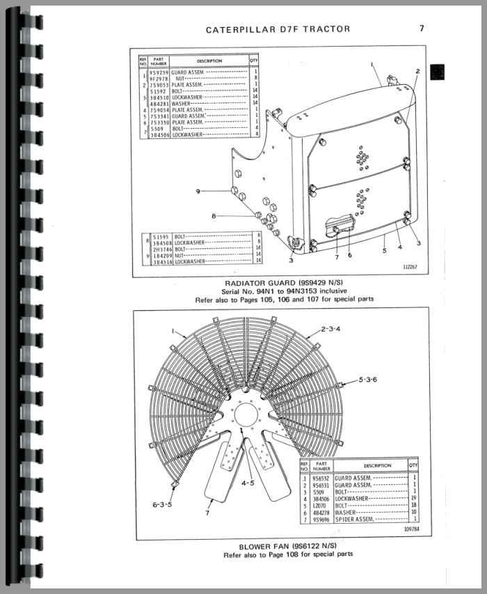 Caterpillar D7F Crawler Parts Manual