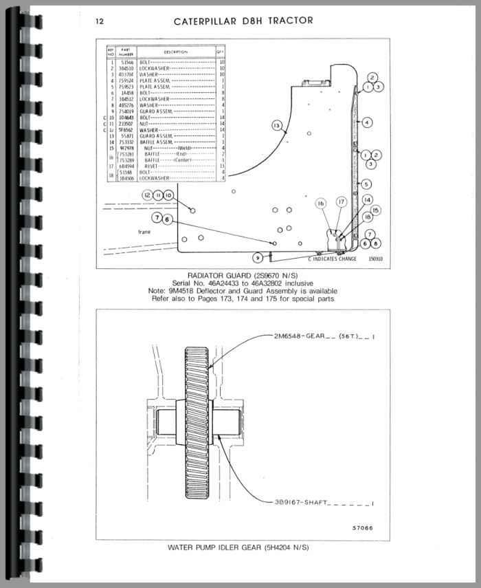 Caterpillar D8H Crawler Parts Manual