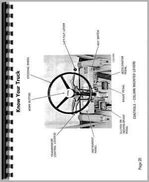 Clark C500 Y40Y55 Forklift Operators Manual