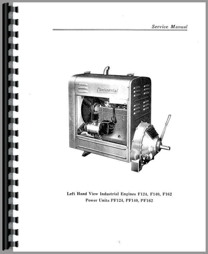Continental Engines F140 Engine Service Manual