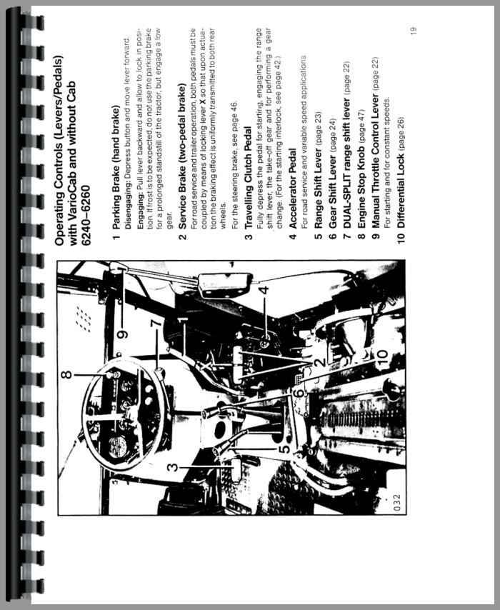 6250 Tractor Operators Manual Deutz Allis Diagnostic, Test