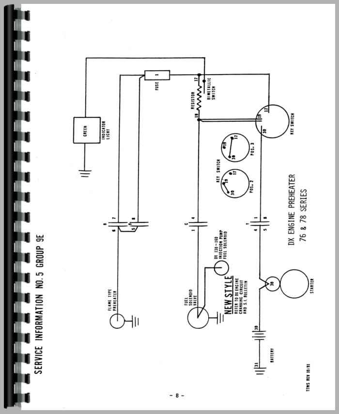 Deutz D5006 Tractor Wiring Diagram Service Manual