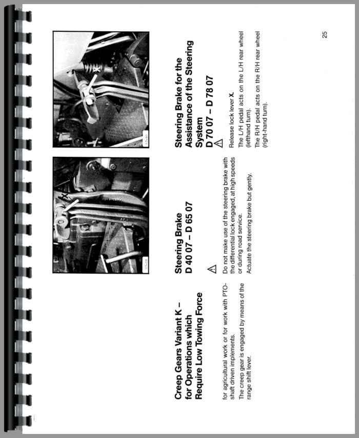Deutz D6007 Tractor Operators Manual