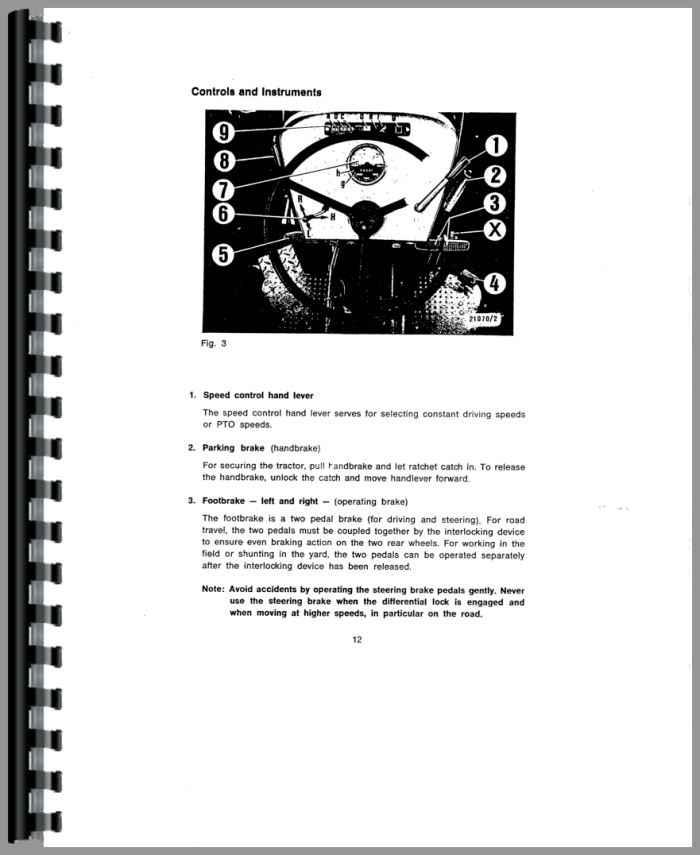 Deutz D6206 Tractor Operators Manual