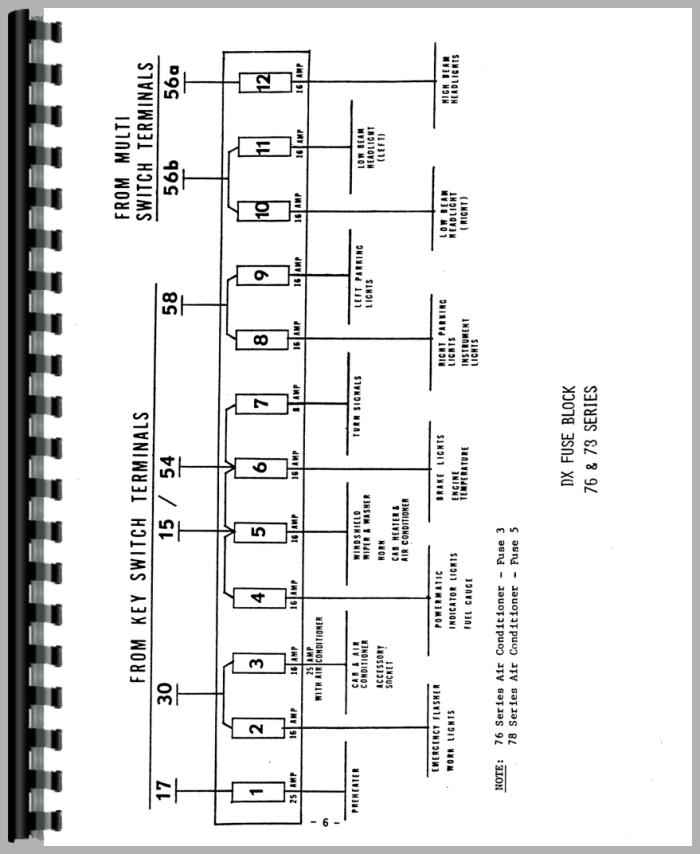 Deutz D7807 Tractor Wiring Diagram Service Manual