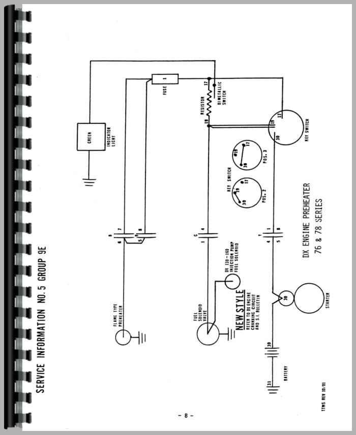 Deutz D8006 Tractor Wiring Diagram Service Manual