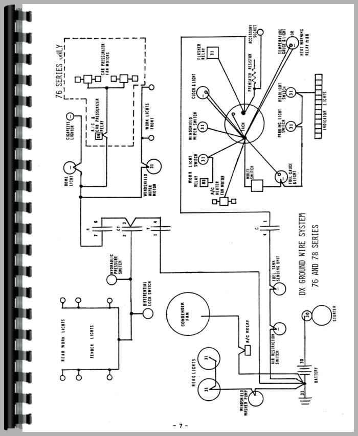 Deutz DX110 Tractor Wiring Diagram Service Manual