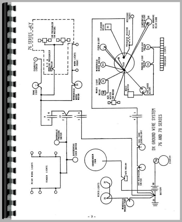 Deutz DX130 Tractor Wiring Diagram Service Manual