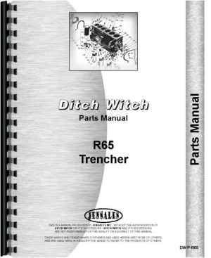 Ditch Witch R65 Trencher Parts Manual