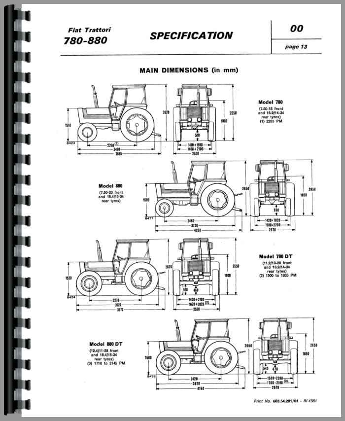 Fiat 880-5DT Tractor Service Manual