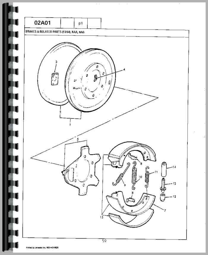 Ford 1841 Industrial Tractor Parts Manual