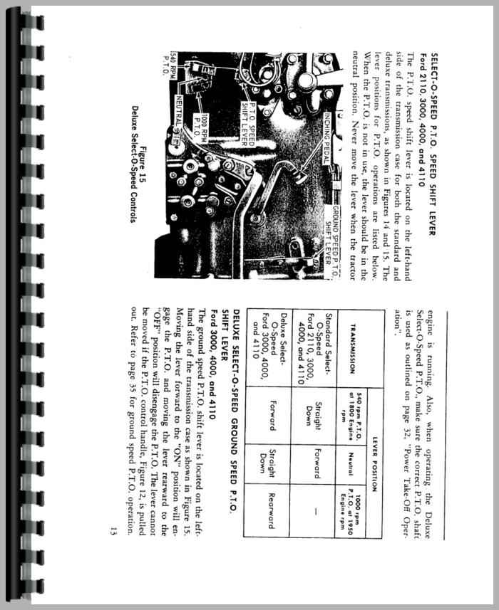 Ford 2120 Tractor Operators Manual