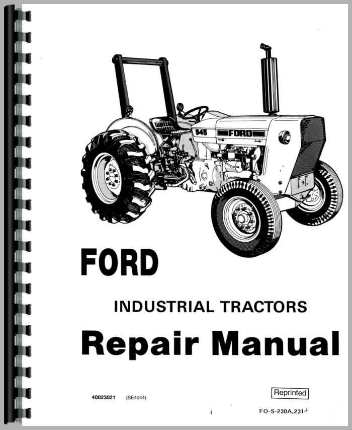 Ford 340 Industrial Tractor Service Manual