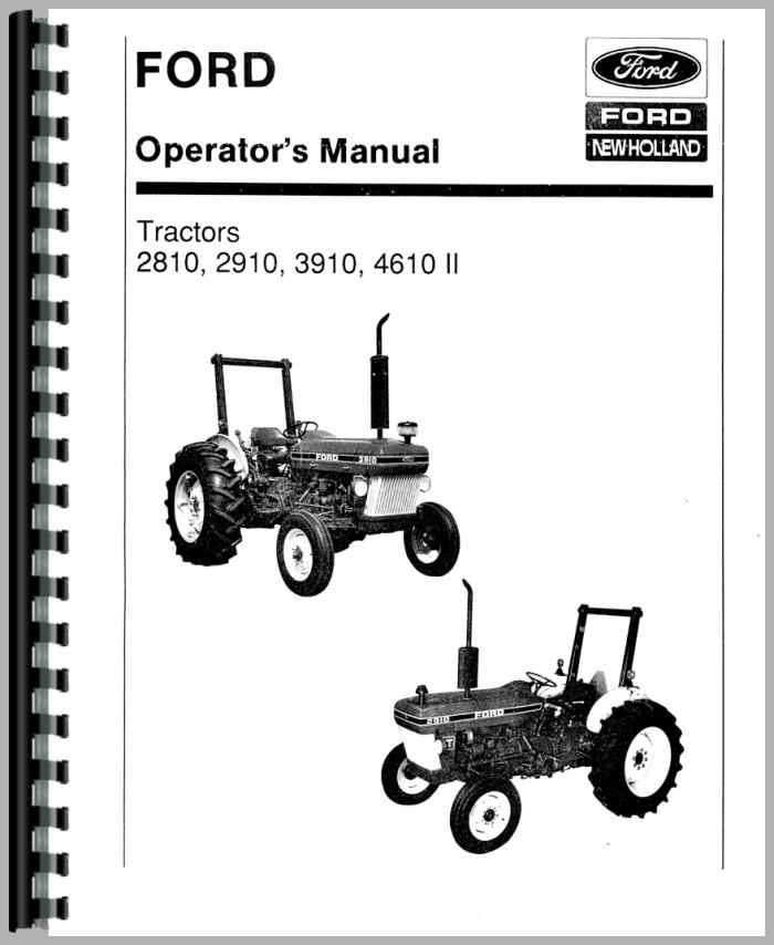 Ford 3910 Tractor Operators Manual