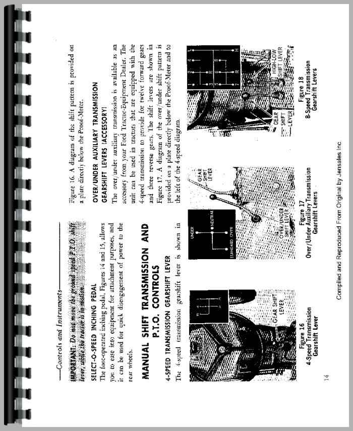 Ford 4110 Tractor Operators Manual