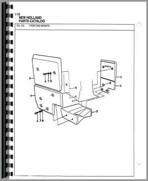 Ford 555B Industrial Tractor Parts Manual