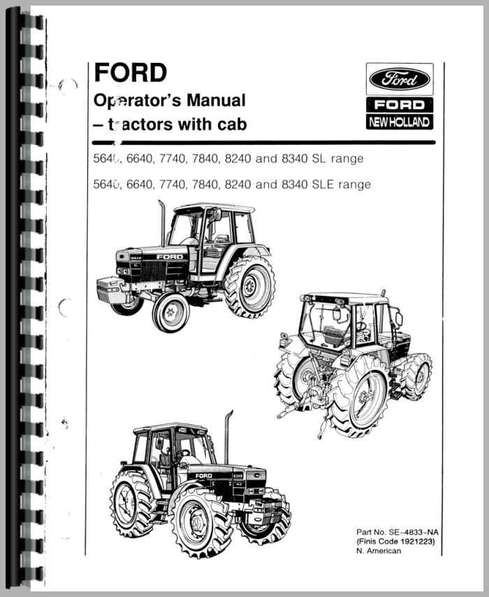 Ford 5640 Tractor Operators Manual