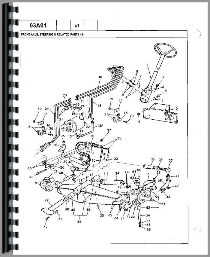 Ford 755A Tractor Loader Backhoe Parts Manual