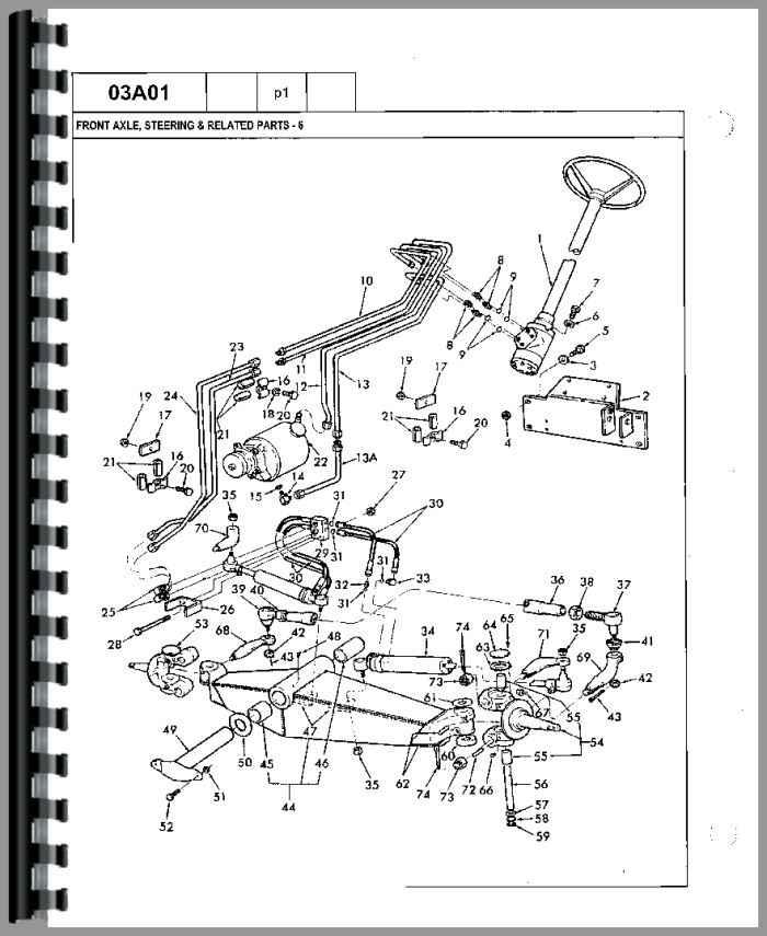 Ford 755B Tractor Loader Backhoe Parts Manual