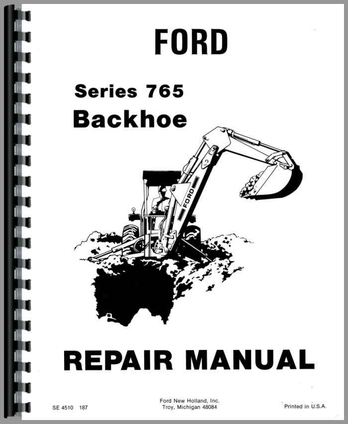 Ford 765 Backhoe Attachment Service Manual