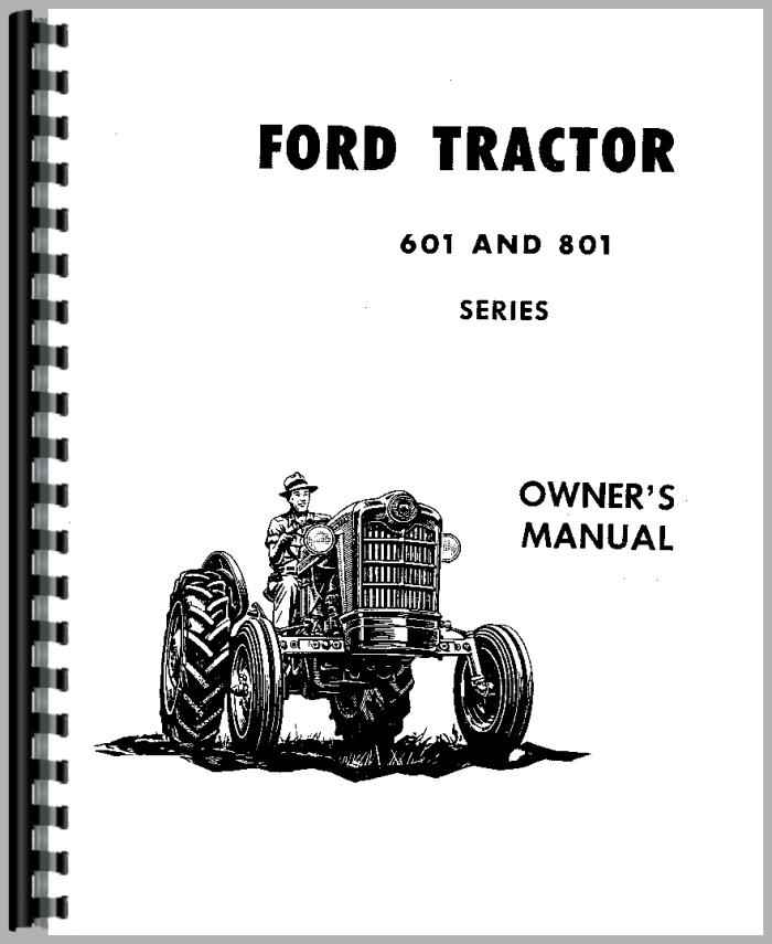 Ford 801 Tractor Operators Manual