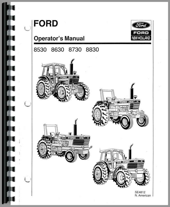 Ford 8730 Tractor Operators Manual