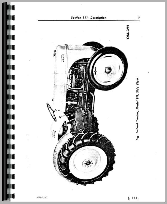 Ford 8N Tractor Operators Manual