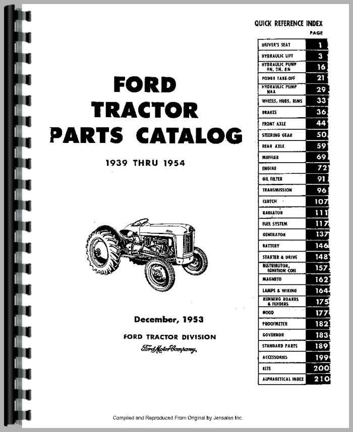 Ford 9n Engine Manuals, Ford, Free Engine Image For User