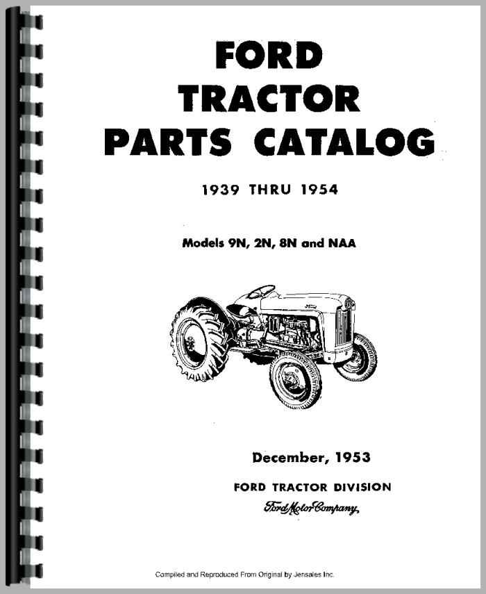 Ford 9N Tractor Parts Manual