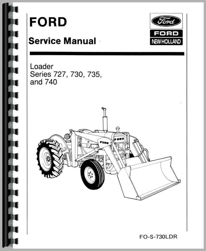 Ford 730 Industrial Loader Attachment Service Manual