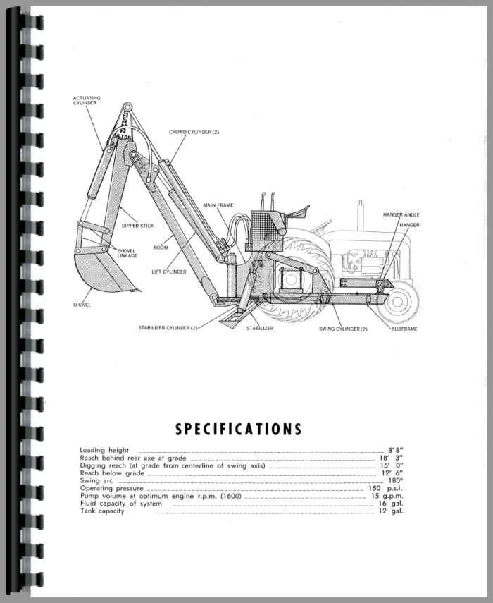 Ford 54E Sherman 54E Backhoe Attachment Operators Manual