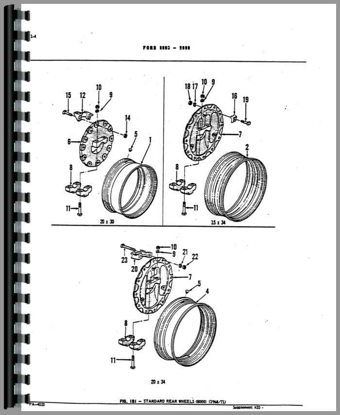 Ford TW 20 Tractor Parts Manual