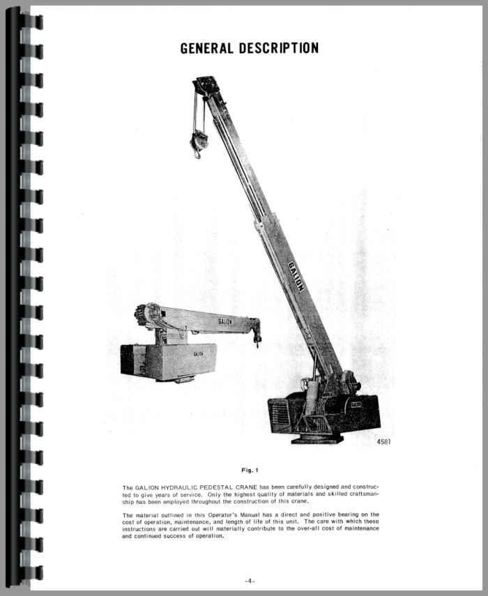 Galion 125P Grader Operators Manual