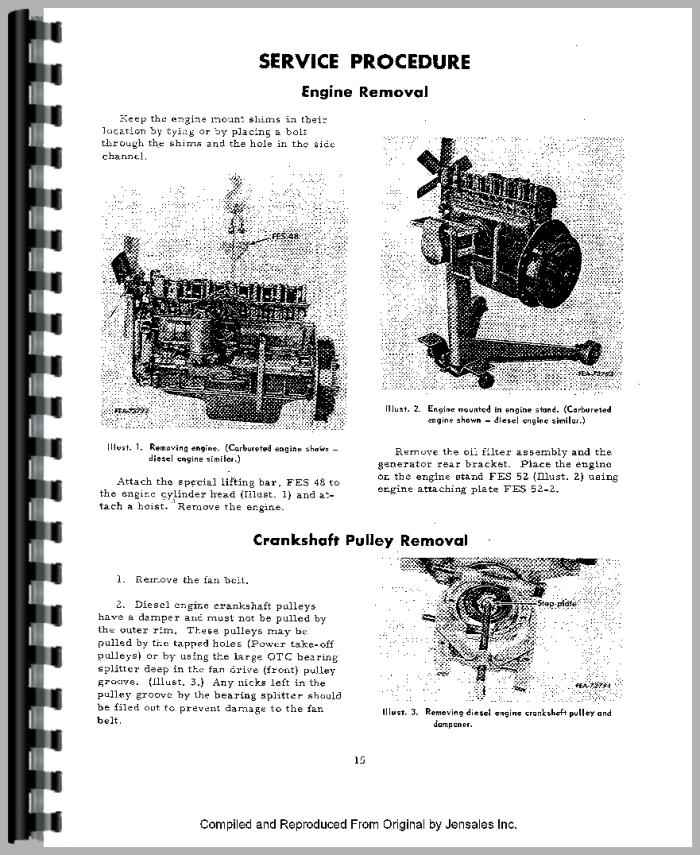 Galion 503A Grader IH Engine Service Manual
