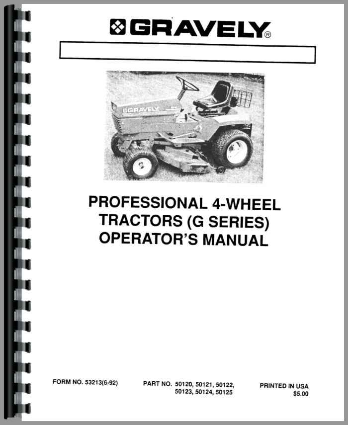 Gravely 18G Lawn & Garden Tractor Operators & Parts Manual