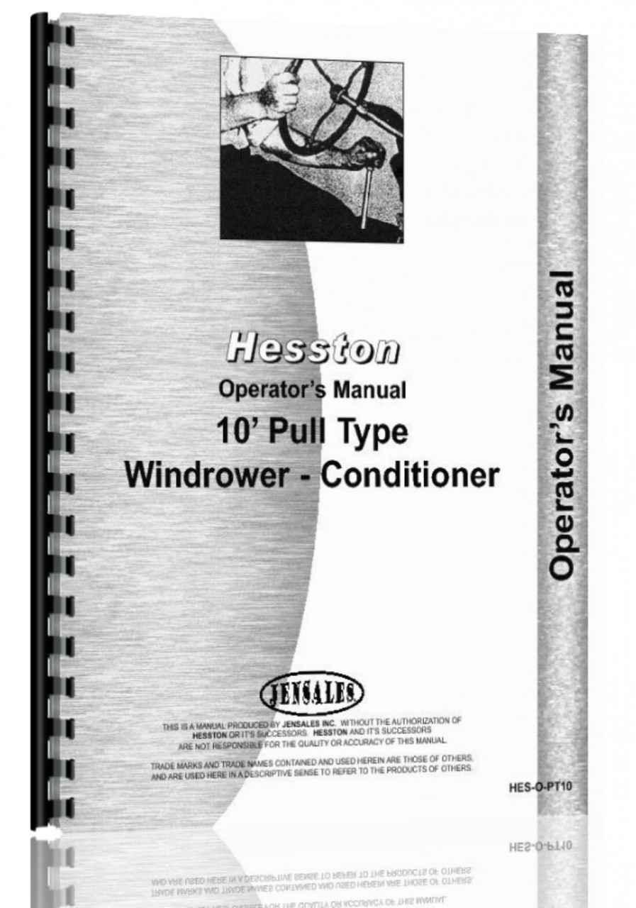 hight resolution of hesston pt 7 pt 10 pt 12 mower conditioner operators manual hthe sopt10