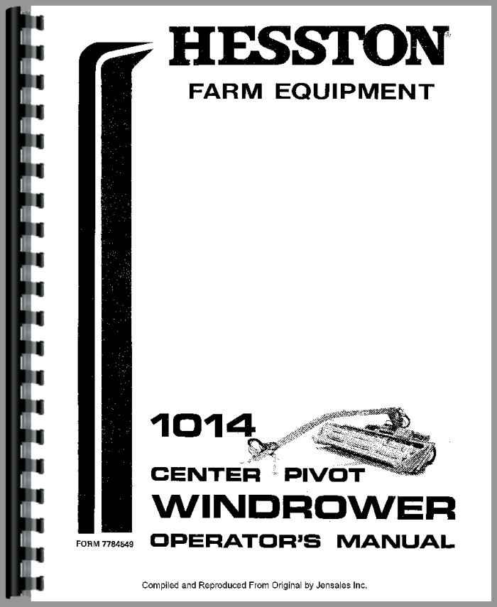 Hesston 1014 Mower Conditioner Operators Manual