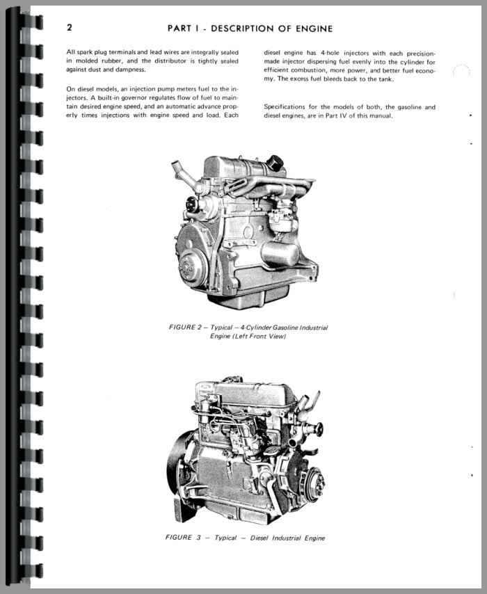 Hesston 280 Windrower Ford Engine Service Manual