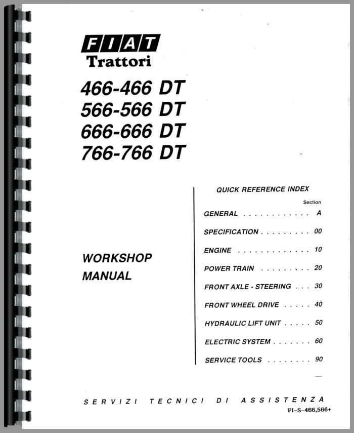 Hesston 466 Tractor Service Manual