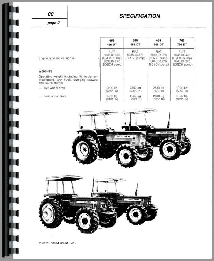 Hesston 466 Tractor Service Manual