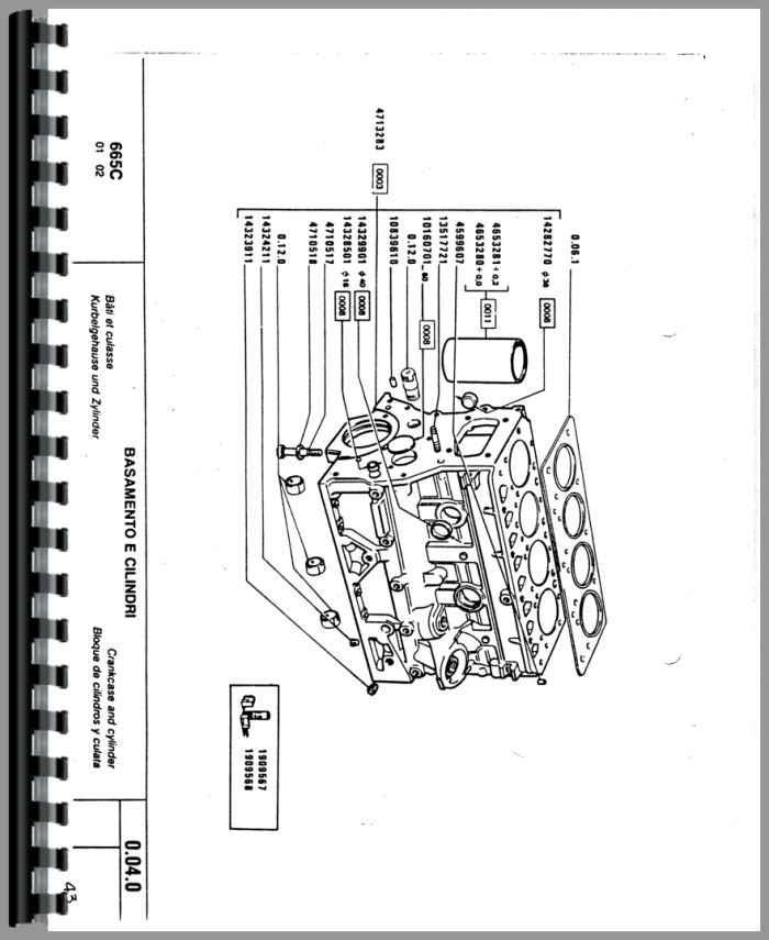 Hesston 665C Crawler Parts Manual