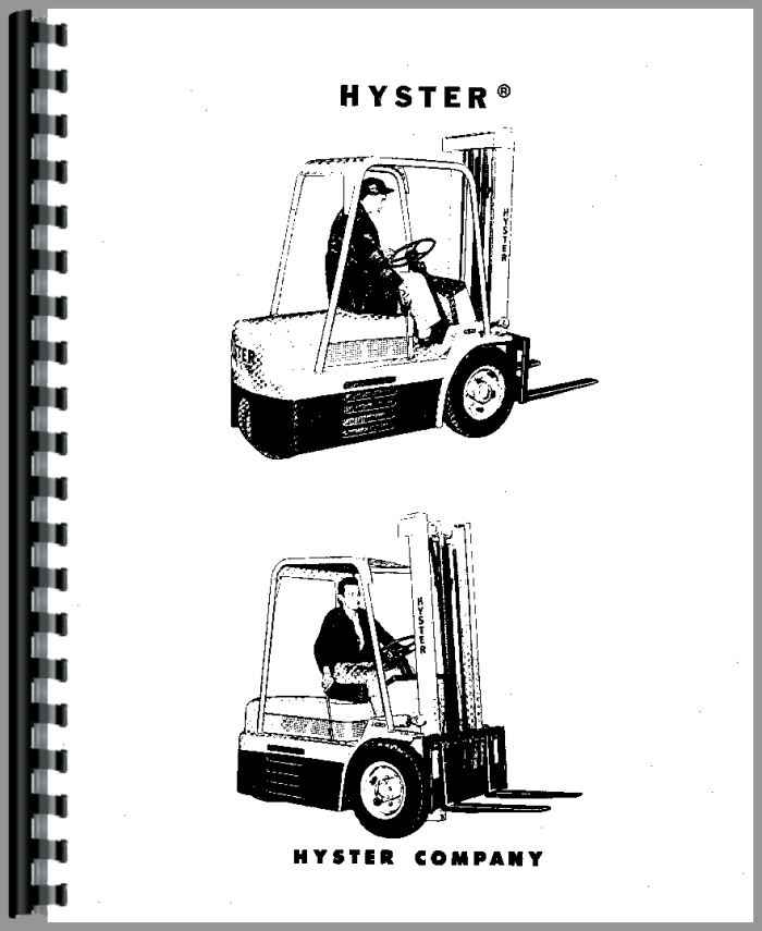 Hyster HE50 Forklift Service Manual