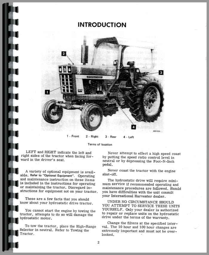 Farmall 100 Hydro Tractor Operators Manual