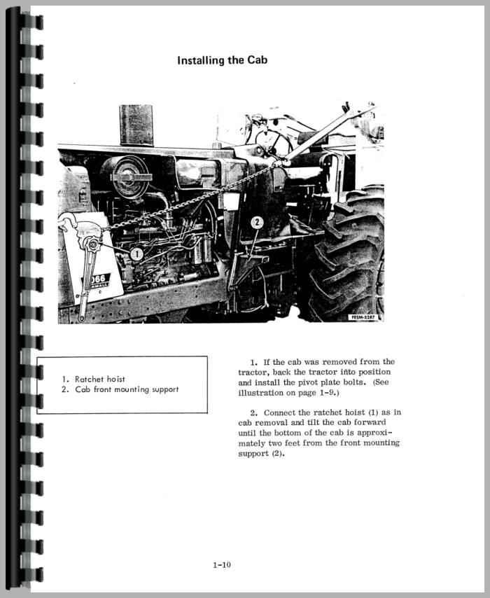 Farmall 1066 Tractor Service Manual