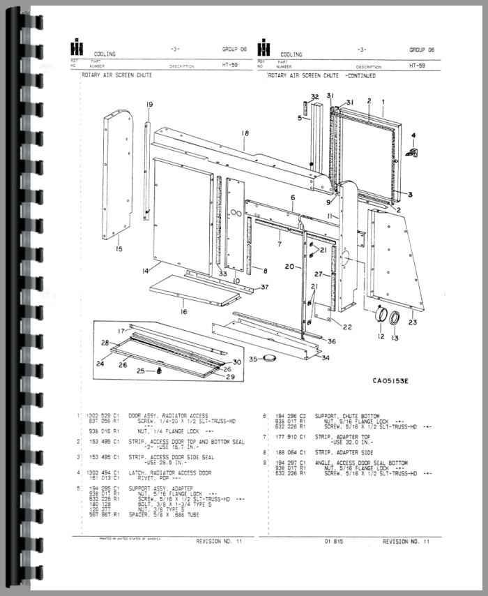 International Harvester 1440 Combine Parts Manual