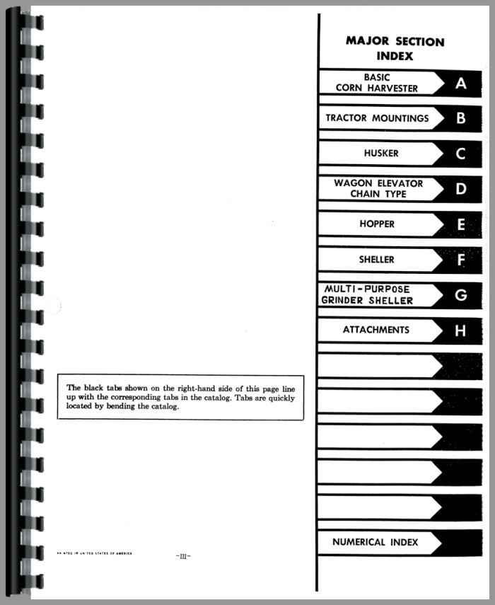 International Harvester 234 Corn Picker Parts Manual