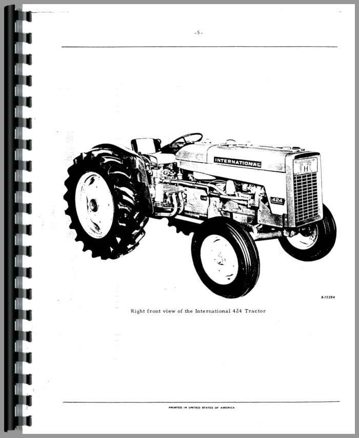 International Harvester 2424 Industrial Tractor Parts Manual