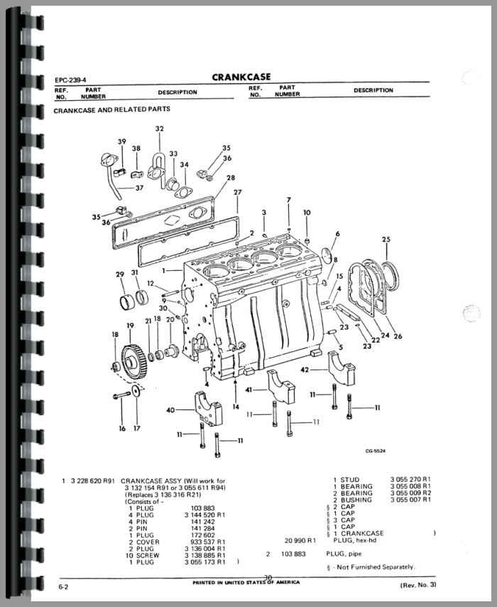 International Harvester 260A Industrial Tractor Engine