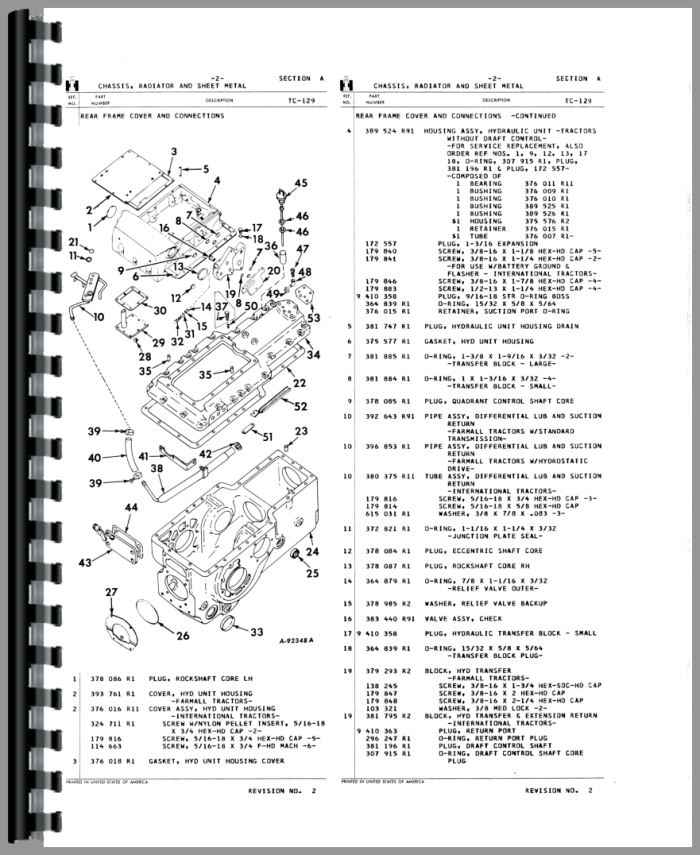 International 574 Tractor Parts Breakdown